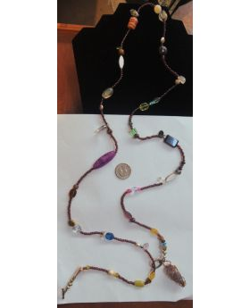 Lilibit Creation Necklace Extra Long, Wrap Boho Chic Necklace - One of a Kind