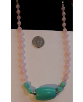 Lilibit Creation Necklace Rose Quartz with Large Accent Stone – One of a Kind