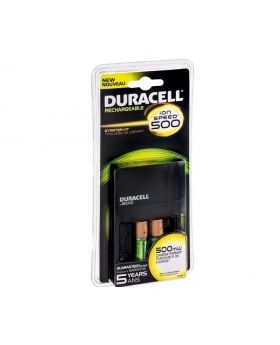 Duracell ION SPEED 500 Hi-Performance Charger, Includes 2 AA NiMH Batteries