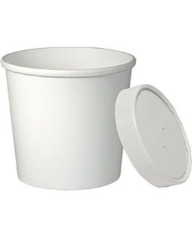 16 Oz. Eco-friendly Soup Cup + Lid 25 Pack