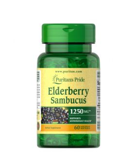 Puritan's Pride Elderberry Sambucus 1250 mg 60 Softgels