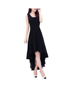 Elegant Women Sleeveless Boho Chiffon Dress