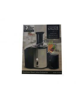 Elite Platinum 2 Speed Wide Feed Tube Stainless Steel Juice Extractor in the box