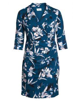 Eliza J Faux Wrap Floral Dress Size 16 W for Plus Size Women