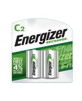 Energizer Rechargeable C Batteries, NiMH, 2500 mAh, 2 Count