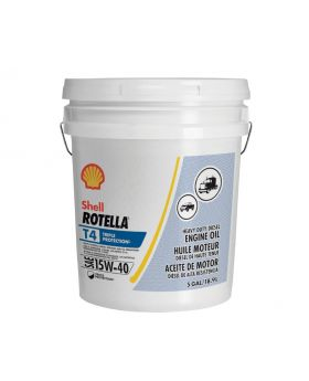 Shell Rotella T4 Triple Protection 15W-40 Diesel Engine Oil, 5 Gallon
