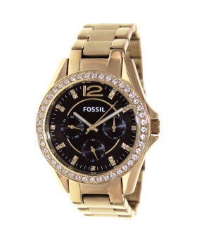 Fossil-Women's-Riley-ES3384-Gold-Watch
