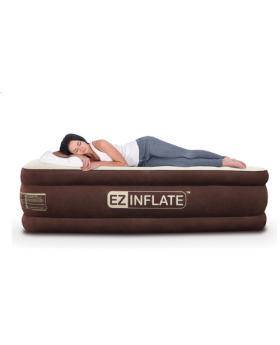 EZ Inflate Queen Double High Airbed Mattress