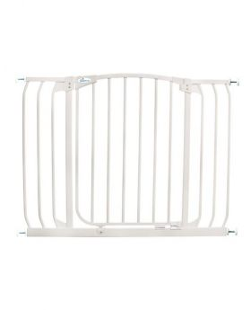"""Chelsea Extra Wide 38-42.5"""" Auto Close Metal Baby Gate - White"""