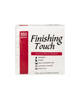 Finishing Touch Premium 3-Ply Dinner Napkins 150 Count