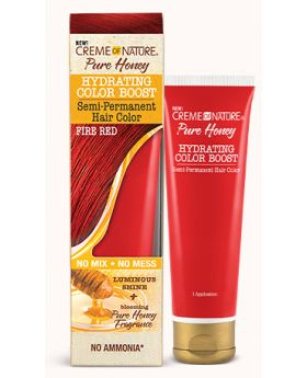 Pure Honey Hydrating Color Boost – Semi-Permanent Hair Color FIRE RED