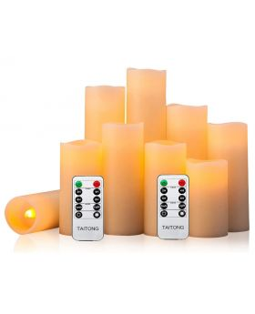 Flameless Battery Operated LED Candles 6 Pack