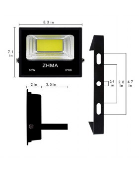 Do-it-yourselfer floodlight 60watts (250watts equivalent) with switch