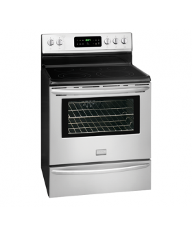 Frigidaire 30 Inch Electric Stove FGEF3032MF angled