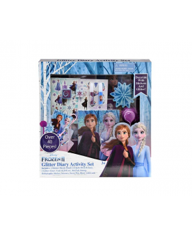 Frozen 2 Girls Glitter Diary Set