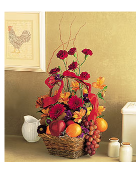 Fruits and Flowers Basket