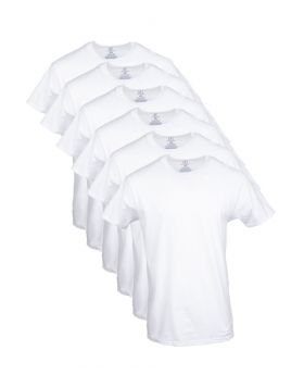George Men's  Crew Neck T-Shirt, 6 Pack