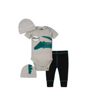 Gerber Baby Boys Take Me Home Set, 3-Piece Aligator