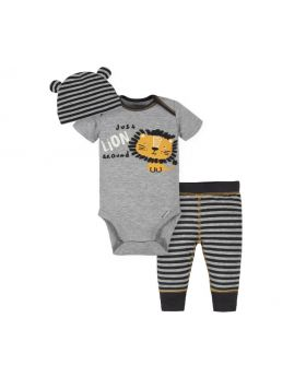 Gerber Baby Boys Take Me Home Set, 3-Piece Lion