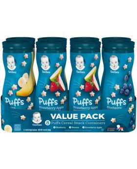 Gerber Puffs Cereal Snack Variety 8 Pack 1.48 Oz.