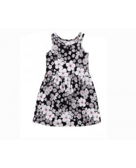 Girl's Flower Pattern Dress