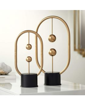 Gold Abstract Table Top Sculpture