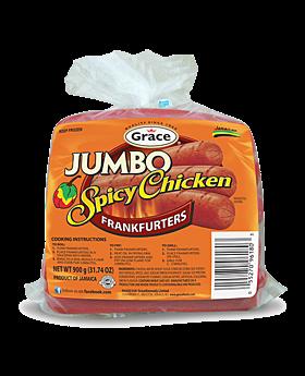 Grace Kennedy Jumbo Spicy Chicken Frankfurters 908g
