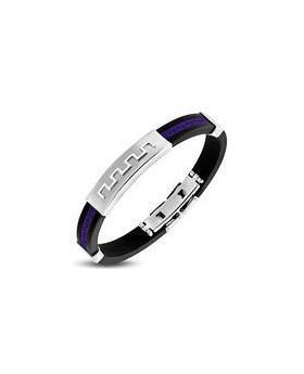 Greek Key Purple Bracelet