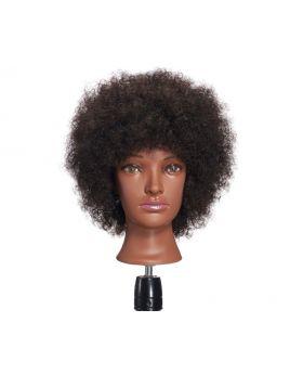 Hairginkgo 100% Human Hair Mannequin Head Hairdresser Training Head
