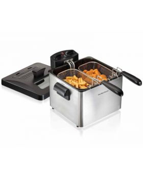 Hamilton Beach 35036 Deep Fryer, 19 Cup Oil Capacity Professional-Style with 2 Baskets