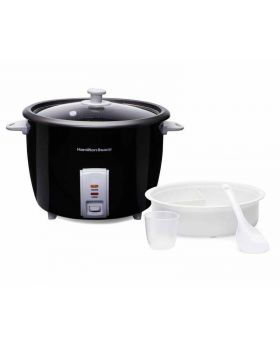 Hamilton Beach 30-Cups Black Rice Cooker With Accessories