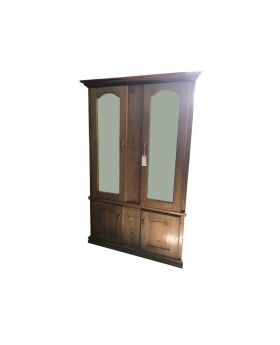 Large Hardwood wardrobe with 2 mirrors on its large cupboards