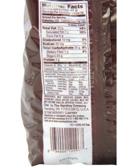 Hershey's Chocolate Kisses 56 oz Nutrition Facts