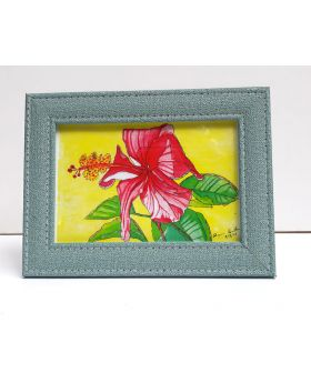 Hibiscus Flower Creative Drawing Framed