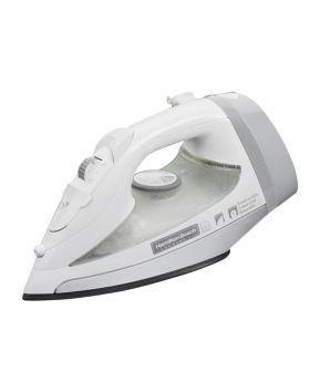 Hamilton Beach HIR300R White Non-Stick Hospitality Iron, Steam and Dry with Auto Shut Off