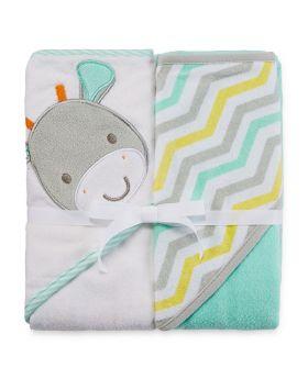 Hooded Towel 2pk - Lamb