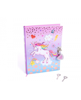 Hot Focus Unicorn Secret Diary with Lock