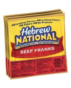 Hebrew National Hotdog Beef Franks, 3pk/12oz