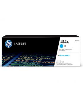 HP 414A Cyan Original LaserJet Toner Cartridge, W2021A