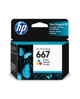 HP 667 Tri-color Original Ink Advantage Ink Cartridge (3YM78AL)