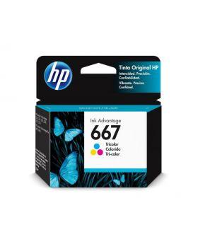 HP 667 Tri-color Original Ink Cartridge