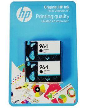 HP 964 Original Black Ink Cartridge 2 Pack