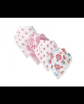 Hudson Baby Girl Muslin Bandana Bib, 3-Pack, Floral