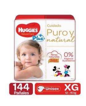 Huggies Natural Care Plus Diapers Size XG4 144 Pack