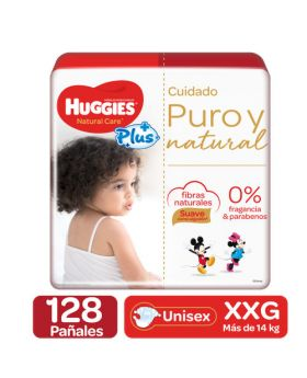 Huggies Natural Care Plus Diapers Size XXG5 128 Pack