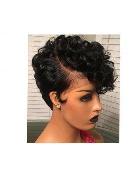 """Human Hair Pixie Wig 8"""""""