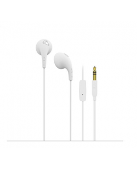 iLuv White Bubble Gum Earphone with Mic and Remote