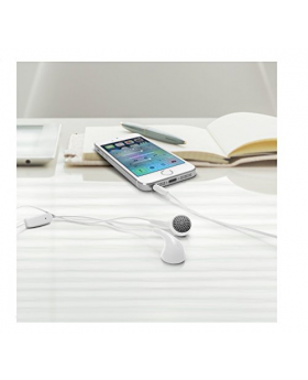 iLuv White Bubble Gum Earphone with Mic and Remote in phone