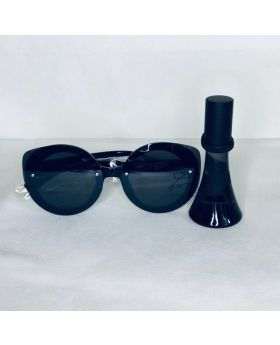 Black Cat Eyed Shades with Reb'l Fleur Love Always by Rihanna