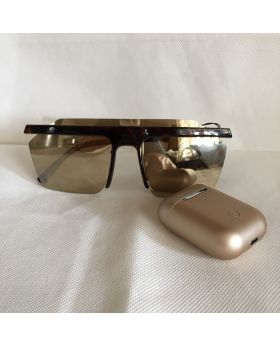 Gift Bundle- Gold Inpods T12 Wireless Earpods and Gold UV400 Sunglasses